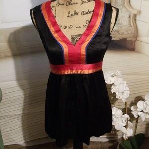 Kensie silk v-neck blouse
